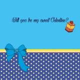 Διανυσματική ευχετήρια κάρτα για την ημέρα βαλεντίνων ` s Αγίου Στοκ εικόνα με δικαίωμα ελεύθερης χρήσης