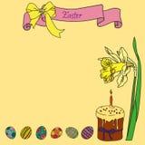 Διανυσματική ευχετήρια κάρτα ευτυχές Πάσχα απεικόνιση αποθεμάτων