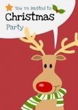 Διανυσματική ευχετήρια κάρτα χαρακτήρα ταράνδων Χαρούμενα Χριστούγεννας Στοκ Φωτογραφία