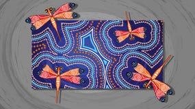 Διανυσματική ζωγραφική τέχνης λιβελλουλών αυτόχθων διανυσματική απεικόνιση