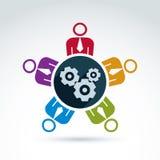Διανυσματική ζωηρόχρωμη απεικόνιση των εργαλείων, θέμα επιχειρηματικών συστημάτων, Στοκ Φωτογραφίες
