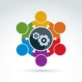 Διανυσματική ζωηρόχρωμη απεικόνιση των εργαλείων - θέμα επιχειρηματικών συστημάτων, Στοκ φωτογραφία με δικαίωμα ελεύθερης χρήσης