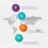Διανυσματική ζωηρόχρωμη γραφική παράσταση πληροφοριών για τις επιχειρησιακές παρουσιάσεις σας Γ απεικόνιση αποθεμάτων