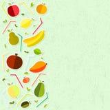 Διανυσματική ημέρα παγκόσμιας υγείας γραφικής παράστασης στα κατασκευασμένα γυαλιά υποβάθρου για το χυμό, χυμός, άχυρο, φρούτα, μ ελεύθερη απεικόνιση δικαιώματος