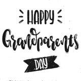 Διανυσματική ημέρα παππούδων και γιαγιάδων Στοκ εικόνες με δικαίωμα ελεύθερης χρήσης