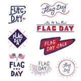 Διανυσματική ημέρα σημαιών λογότυπων και ετικετών Στοκ εικόνες με δικαίωμα ελεύθερης χρήσης
