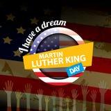 Διανυσματική ημέρα του Martin Luther King εμείς αυτοκόλλητη ετικέττα ή ετικέτα Στοκ φωτογραφία με δικαίωμα ελεύθερης χρήσης