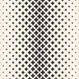 Διανυσματική ημίτοή σύσταση, μονοχρωματικό άνευ ραφής σχέδιο με το crosse Στοκ Εικόνες