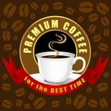 Διανυσματική, δημιουργική ιδέα καφέδων σχεδίου φλυτζανιών καφέ στοκ εικόνες