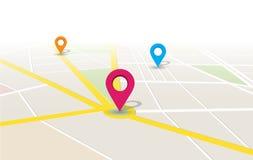 Διανυσματική θέση App χαρτών Στοκ εικόνες με δικαίωμα ελεύθερης χρήσης