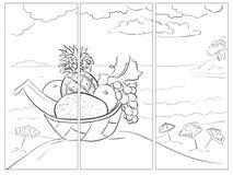 Διανυσματική θερινή θέση τέχνης γραμμών διανυσματική απεικόνιση