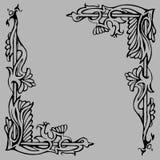 Διανυσματική διακόσμηση στις αναμειγνύοντας γραμμές λουλουδιών Στοκ εικόνα με δικαίωμα ελεύθερης χρήσης