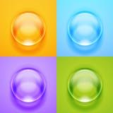 Διανυσματική διαφανής σφαίρα γυαλιού με τα έντονα φω'τα και τα κυριώτερα σημεία απεικόνιση αποθεμάτων