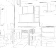 Διανυσματική διαδικασία σχεδίου στην απεικόνιση καλώδιο-πλαισίων διανυσματική απεικόνιση