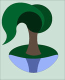Διανυσματική ιτιά δέντρων απεικόνιση αποθεμάτων