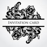 Διανυσματική κάρτα δαντελλών Στοκ εικόνα με δικαίωμα ελεύθερης χρήσης