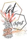 Διανυσματική κάρτα απεικόνισης με την επιγραφή καλύτερος Αύγουστος Στοκ φωτογραφία με δικαίωμα ελεύθερης χρήσης