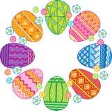 Διανυσματική κάρτα αυγών Πάσχας Πάσχα ευτυχές Στοκ Εικόνες