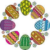 Διανυσματική κάρτα αυγών Πάσχας Πάσχα ευτυχές Στοκ φωτογραφία με δικαίωμα ελεύθερης χρήσης