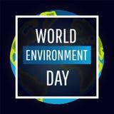 Διανυσματική κάρτα ημέρας παγκόσμιου περιβάλλοντος, αφίσα απεικόνιση αποθεμάτων