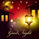 Διανυσματική κάρτα καληνύχτας απεικόνιση αποθεμάτων