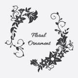 Διανυσματική κάρτα με τη διακόσμηση λουλουδιών Στοκ εικόνα με δικαίωμα ελεύθερης χρήσης