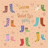 Διανυσματική κάρτα με τις ζωηρόχρωμες κάλτσες ελεύθερη απεικόνιση δικαιώματος