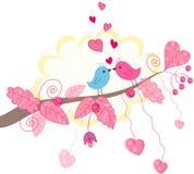 Διανυσματική κάρτα πουλιών διανυσματική απεικόνιση
