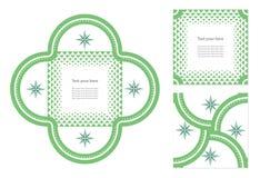 Διανυσματική κάρτα πρόσκλησης Στοκ εικόνα με δικαίωμα ελεύθερης χρήσης