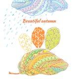 Διανυσματική κάρτα doodle Απεικόνιση αποθεμάτων