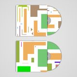 Διανυσματική κάλυψη Cd που τίθεται για το σχέδιό σας Στοκ φωτογραφίες με δικαίωμα ελεύθερης χρήσης