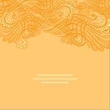 Διανυσματική κίτρινη αφηρημένη κάρτα πρόσκλησης με το αφηρημένο κύμα Στοκ εικόνα με δικαίωμα ελεύθερης χρήσης