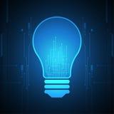 Διανυσματική καινοτομία λαμπτήρων τεχνολογίας του μέλλοντος Στοκ Φωτογραφίες