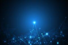 Διανυσματική καινοτομία τεχνολογίας δικτύων του μέλλοντος Στοκ φωτογραφία με δικαίωμα ελεύθερης χρήσης