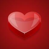 Διανυσματική καρδιά γυαλιού Στοκ Εικόνες