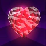 Διανυσματική καρδιά γυαλιού Στοκ Εικόνα