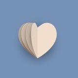 Διανυσματική καρδιά papercraft Στοκ εικόνα με δικαίωμα ελεύθερης χρήσης