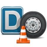 Διανυσματική κατηγορία Δ οχημάτων απεικόνιση αποθεμάτων