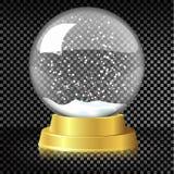 Διανυσματική κενή σφαίρα χιονιού Χριστουγέννων Στοκ Εικόνες
