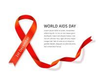 Διανυσματική κορδέλλα του AIDS Στοκ εικόνα με δικαίωμα ελεύθερης χρήσης
