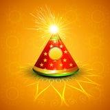 Διανυσματική κροτίδα diwali εορτασμού καμμένος