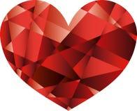Διανυσματική κόκκινη καρδιά Στοκ φωτογραφία με δικαίωμα ελεύθερης χρήσης