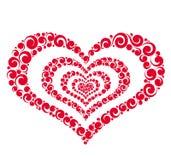 Διανυσματική κόκκινη χρωματισμένη καρδιά Στοκ εικόνα με δικαίωμα ελεύθερης χρήσης
