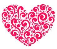 Διανυσματική κόκκινη χρωματισμένη καρδιά Στοκ Εικόνες