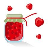 Διανυσματική μαρμελάδα φραουλών Στοκ Εικόνα