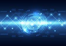 Διανυσματική μελλοντική τεχνολογία τηλεπικοινωνιών δικτύων, αφηρημένο υπόβαθρο Στοκ Εικόνες