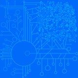 Διανυσματική μονοχρωματική απεικόνιση Απεικόνιση αποθεμάτων