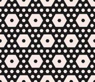 Διανυσματική μονοχρωματική σύσταση με hexagons, γεωμετρικό άνευ ραφής σχέδιο Στοκ Φωτογραφία
