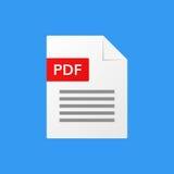 Διανυσματική μορφή αρχείου απεικόνισης εγγράφων Pdf pdf Στοκ Φωτογραφίες