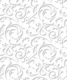 Διανυσματική μπαρόκ damask άσπρη κομψή σύσταση δαντελλών ελεύθερη απεικόνιση δικαιώματος